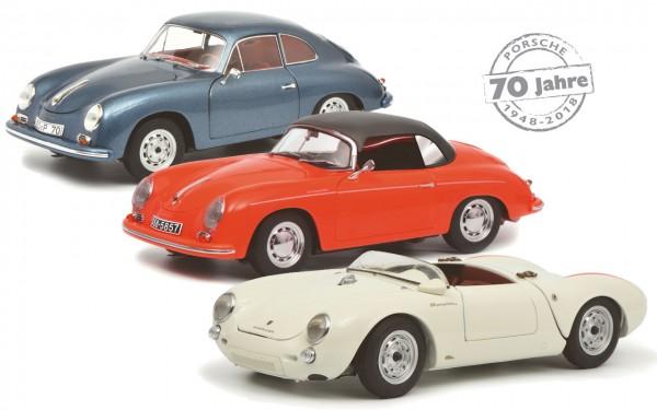 Schuco Classic Porsche 356A Coupe/356A Spyder/550 Spyder 70 Jahre Porsche Setpreis