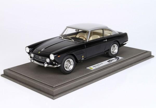 BBR Ferrari 250 GTE 2+2 I Series 1960 Schwarz mit grauem Metallic-Dach Limited Edition 136 1/18