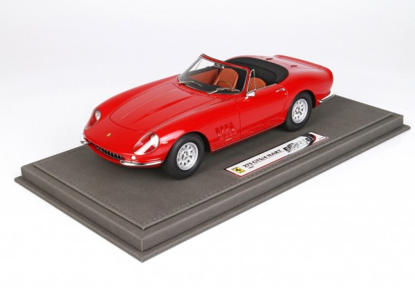 BBR Ferrari 275 GTB Spider NART Rosso-Lederinterieur 1/18 Limited Edition 162