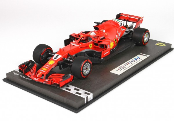 BBR Ferrari SF71-H GP Canada Montreal 2018 SEBASTIAN VETTEL Special Packaging with display case