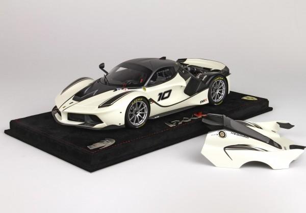 BBR Project 18 Ferrari FXX K open version #10 weiss-anthrazit 1:18