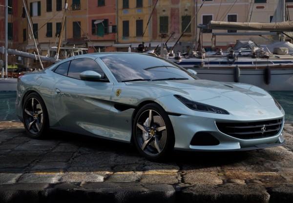 BBR Ferrari Portofino M Spider geschlossen Grigio Alloy Limited Edition 1/18
