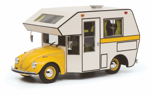 Schuco PRO.R18 VW Käfer Motorhome, gelb 1:18