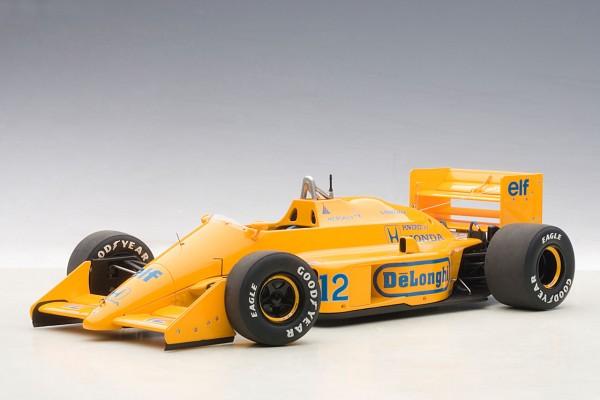 AUTOart Lotus 99T Honda F1 Japanese GP 1987 Senna (ohne Fahrer) #12 1:18