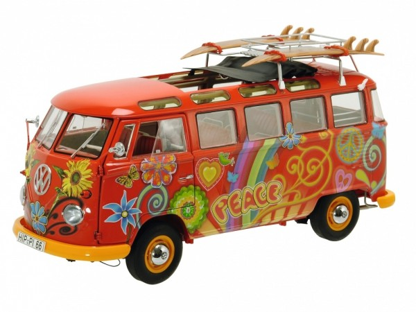 Schuco Exklusiv VW T1 Samba Bus Hippie Limited Edition 1.500