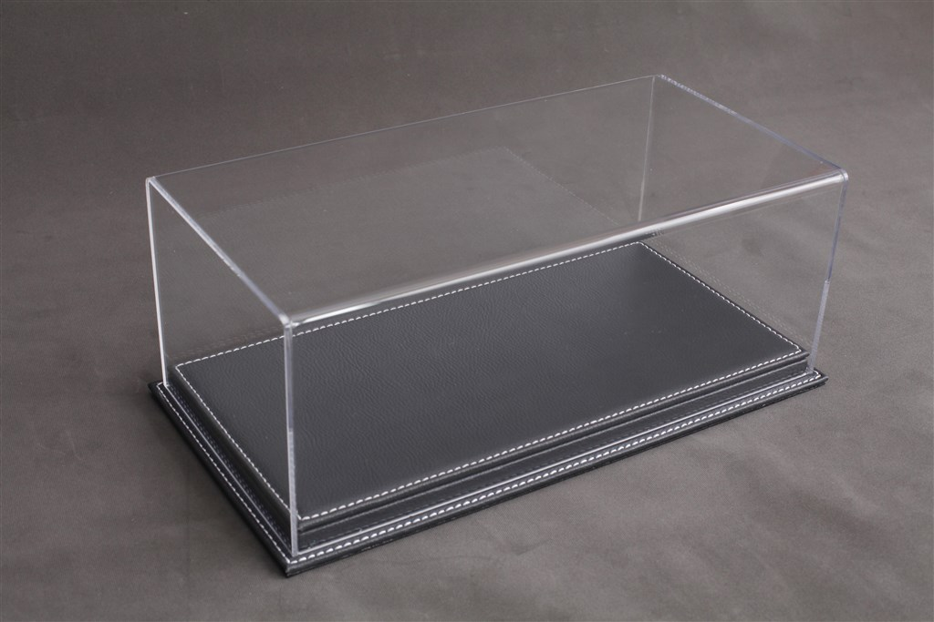 vitrine mulhouse f r 1 12 modelle acrylhaube mit leder bodenplatte anthrazit l510xb240xh180mm. Black Bedroom Furniture Sets. Home Design Ideas