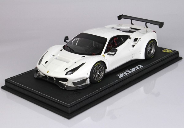 BBR Ferrari 488 GT3 2020 Bianco Italia Metall 1/18 Limited Edition 24