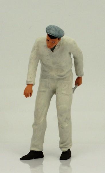 figurenmanufaktur Figur 1:18 Mechaniker, weisser Overall