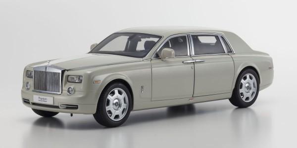 KYOSHO Rolls-Royce Phantom EXTENDED WHEEL BASE Carrara White 1/18