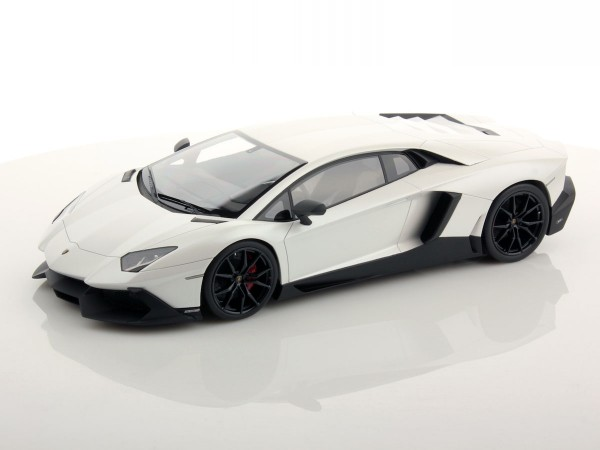 MR MODELS Lamborghini Aventador LP 720-4 50th Anniversary scale 1/18 CANOPUS WHITE