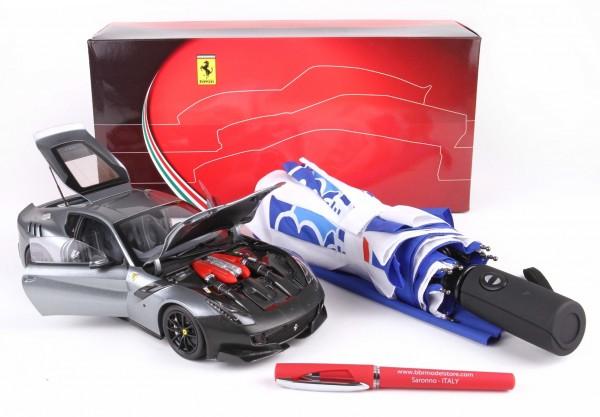 BBR High End Ferrari F12 TDF - 2016 - Titanium Silver mit Frontschutz 1/18