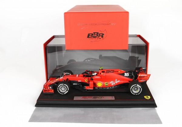 BBR Ferrari SF90 GP Australia Leclerc n 16 Pirelli white Leder Basis Limited Edition 100