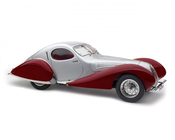 "CMC Talbot Lago Coupé T150 C-SS Figioni & Falaschi ""Teardrop"" silber/rot Limited Edition 1.500"
