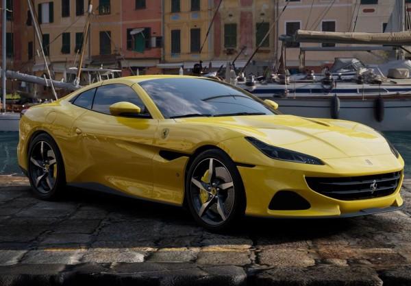 BBR Ferrari Portofino M Spider geschlossen Giallo Modena Limited Edition 1/18