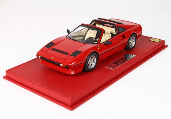 BBR Ferrari 208 GTS Turbo Rosso Interieur beige Limited Edition 120 1/18