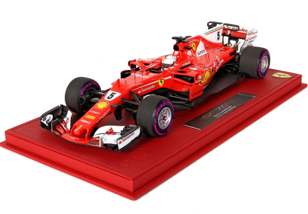 BBR High End Ferrari SF70H GP Monaco 2017 Sieger S.Vettel Start Race Version 1:18