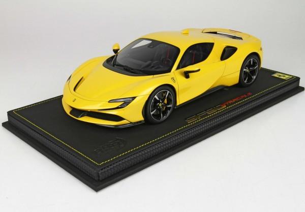 BBR Ferrari SF90 Stradale Yellow Modena Limited Edition 12 Stück