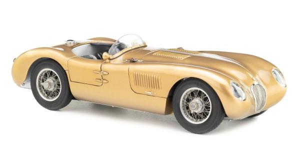 CMC Jaguar C-Type, 1952 in edlem Goldton Tecno-Classica Sondermodell Limited Edition 300