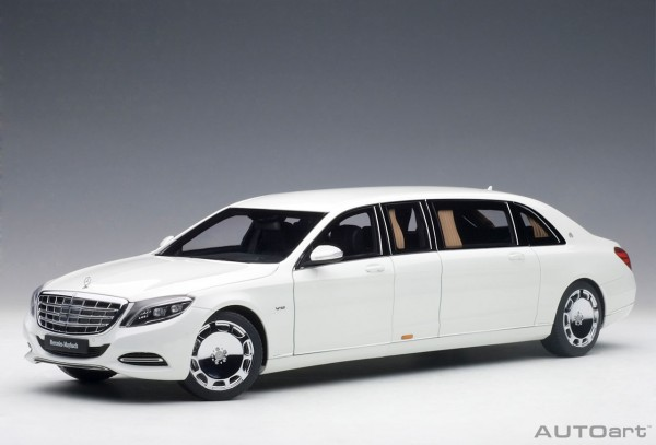 Auto Art Mercedes Maybach S 600 Pullman (weiss) 2016 1:18