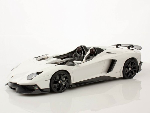 MR Models Lamborghini Aventador J scale 1/18 - WHITE ISIS