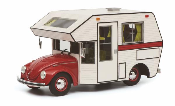 Schuco PRO.R18 VW Käfer Motorhome, rot 1:18