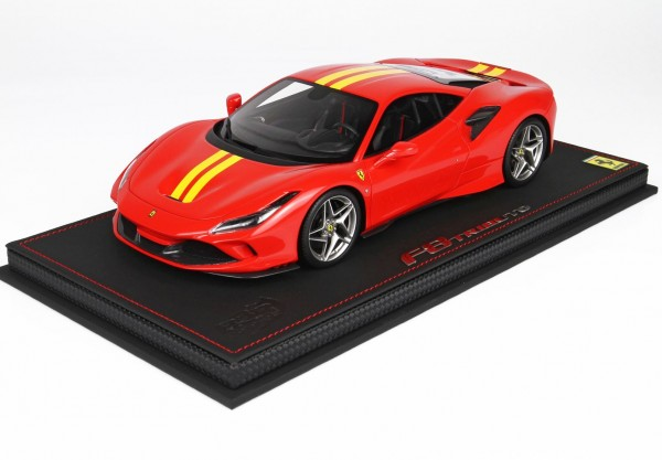 BBR Ferrari F8 Tributo Red Scuderia yellow stripe Limited Edition 12 1/18