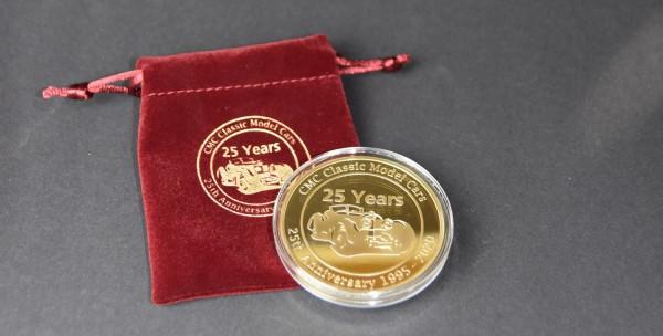 CMC Jubiläumsmünze vergoldet Ø 60 mm – 25 Jahre CMC Zubehör