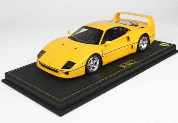 BBR Ferrari F40 1987 Giallo Modena 1/18 Limited Edition 40 Stück