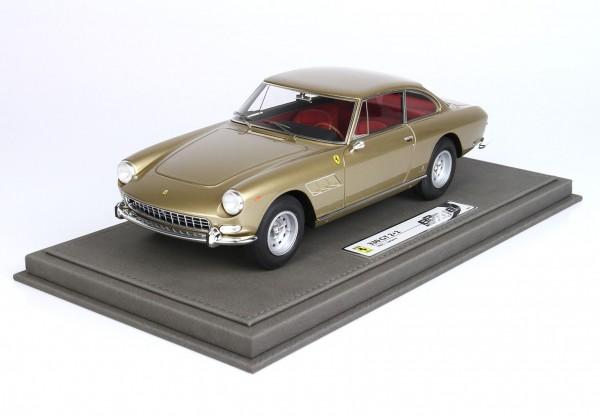 BBR Ferrari 330 GT 2+2 Series 2 1965 Single light GOLD Metallic 103 C 1/18 Limited Edition 48