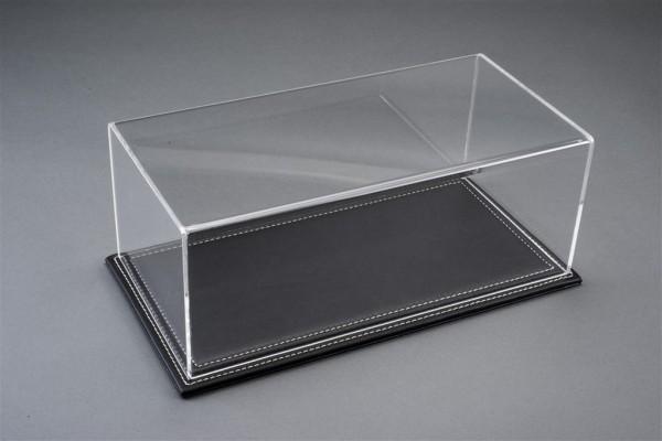 Vitrine Maranello für 1:18 Modelle Acrylhaube mit Leder Bodenplatte schwarz L325xB165xH125mm