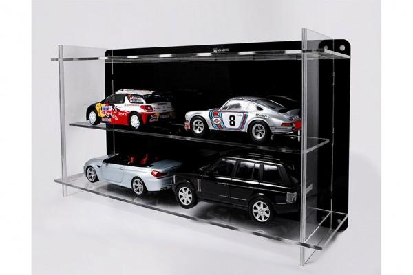 Vitrine Atlantic Multicase 2x2: für 4 Modellautos im Maßstab 1:18