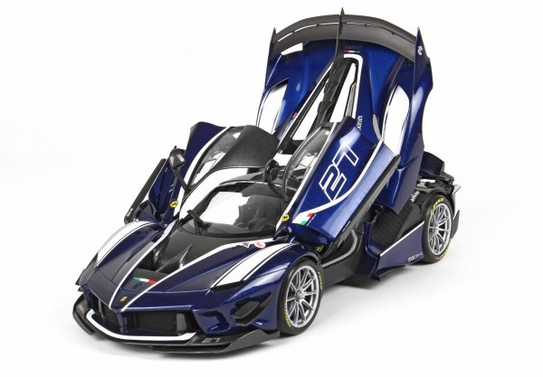 BBR Ferrari FXXK-EVO DIE CAST Blue Tour De France #27 1/18
