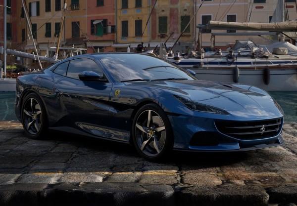 BBR Ferrari Portofino M Spider geschlossen Blu Abu Dhabi Limited Edition 1/18