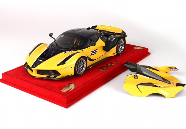 BBR Project 18 Ferrari FXX K open version #15 gelb-schwarz google car 1:18