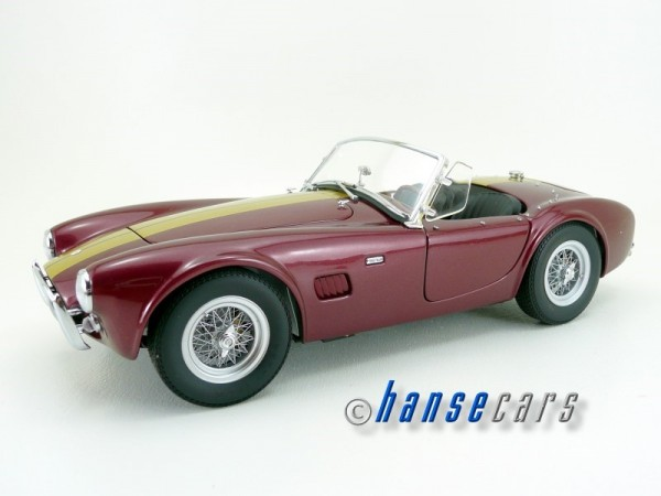 Exoto Shelby Cobra 289 1963 Cabrio Burgundy + Stripes Limited Edition 1963