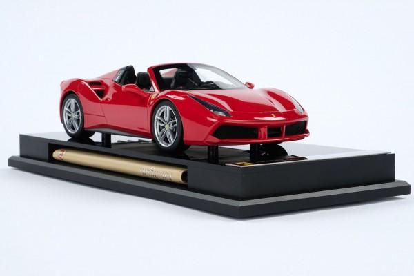 Amalgam Ferrari 488 Spider rot 2015 1:18