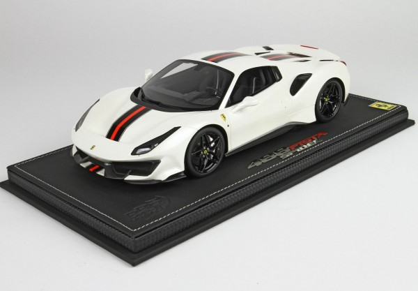 BBR Ferrari 488 PISTA spider roof closed Fuji White Limited Edition 24 1/18
