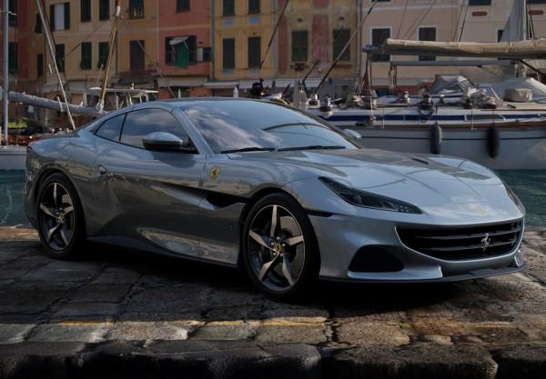 BBR Ferrari Portofino M Spider geschlossen Grigio Titanio Metal Limited Edition 1/18