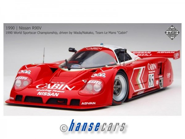 Exoto Nissan R90V 1990 1990 JSPC Fuji 500km, Team Le Mans Cabin #85 Takao Wada, Osamu Nakako Limite
