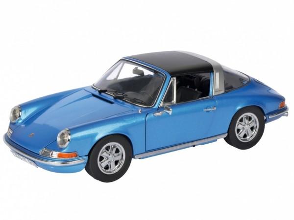 Schuco Porsche 911 S 2.4 Targa Baujahr 1973 blau 1:18