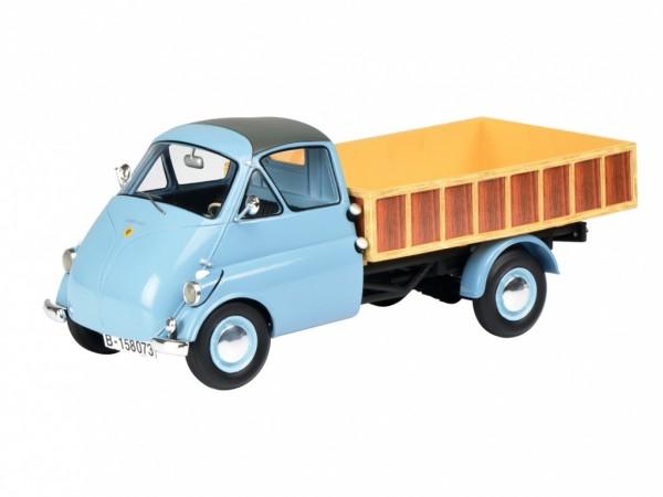 Schuco Isocarro Pritschenwagen hellblau 1:18