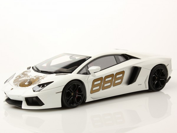 MR Models Lamborghini Aventador LP 700-4 White Monocerus Dragon 888 Limited Edition 99