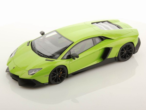 MR MODELS Lamborghini Aventador LP 720-4 50th Anniversary scale 1/18 VERDE ITHACA