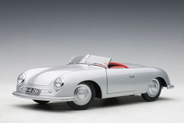 Auto Art Porsche 356 Nummer 1 Upgradet Version Silver 1:18