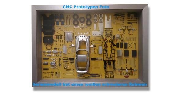 CMC Model Art, CMC Ferrari 250 GTO silber Bauteile-Display Limitierte Edition 200 Stück