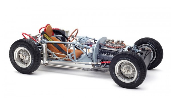 CMC Lancia D50, 1955 Rolling Chassis inkl. Bodenplatte, Limited Edition 1000 Stück