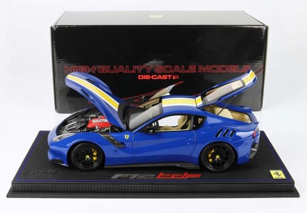 BBR Ferrari F12 TDF Azzurro Dino Lederbasis Limited Edition 36 1/18