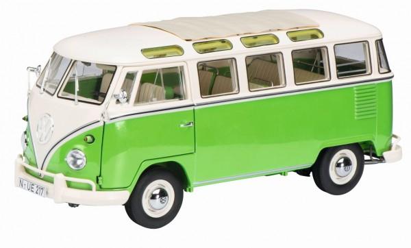 Schuco Exklusiv VW T1b Samba Bus grün-weiß Limited Edition 1.000