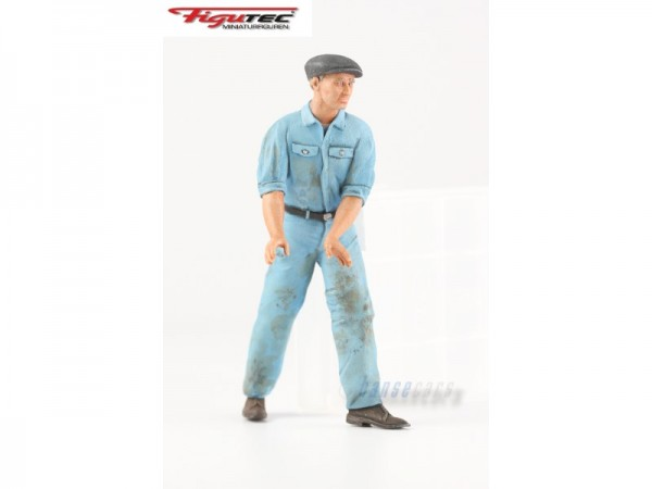 Figutec Figur 1:18 Auto Union Mechaniker schiebt am Lenkrad, TEC180002A