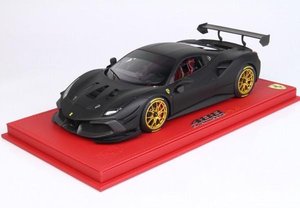BBR Ferrari 488 Challenge EVO 2020 Nero Opaco 1/18 Limited Edition 10